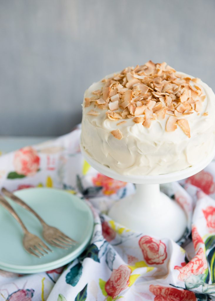 Carrot cake for two via Design Mom. The most adorable mini cake, perfectly portioned for two! #carrotcake #minicake #dessertfortwo | https://www.roseclearfield.com