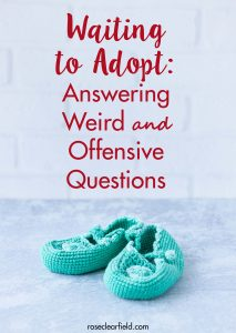 Waiting to Adopt Answering Weird and Offensive Questions