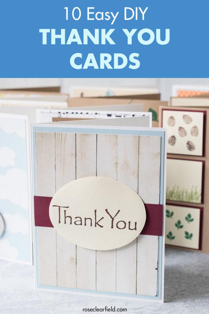 10 Easy DIY Thank You Cards