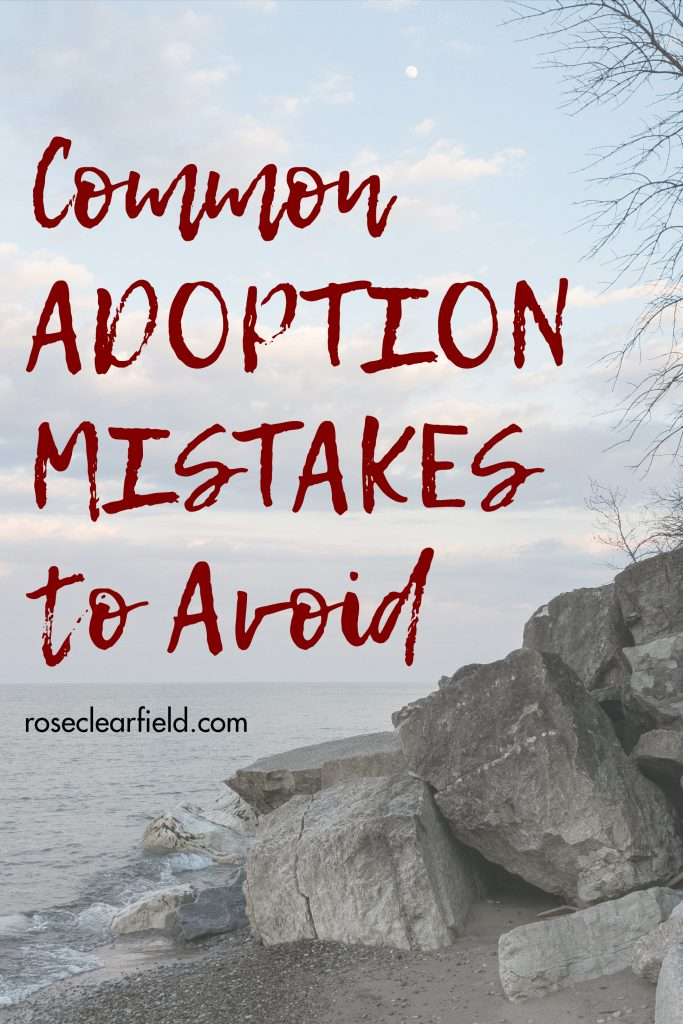 Common adoption mistakes to avoid. Familiarize yourself with the biggest adoption mistakes couples make, so you can steer clear of them! #adoption #adoptionmistakes #commonadoptionmistakes #biggestadoptionmistakes | https://www.roseclearfield.com