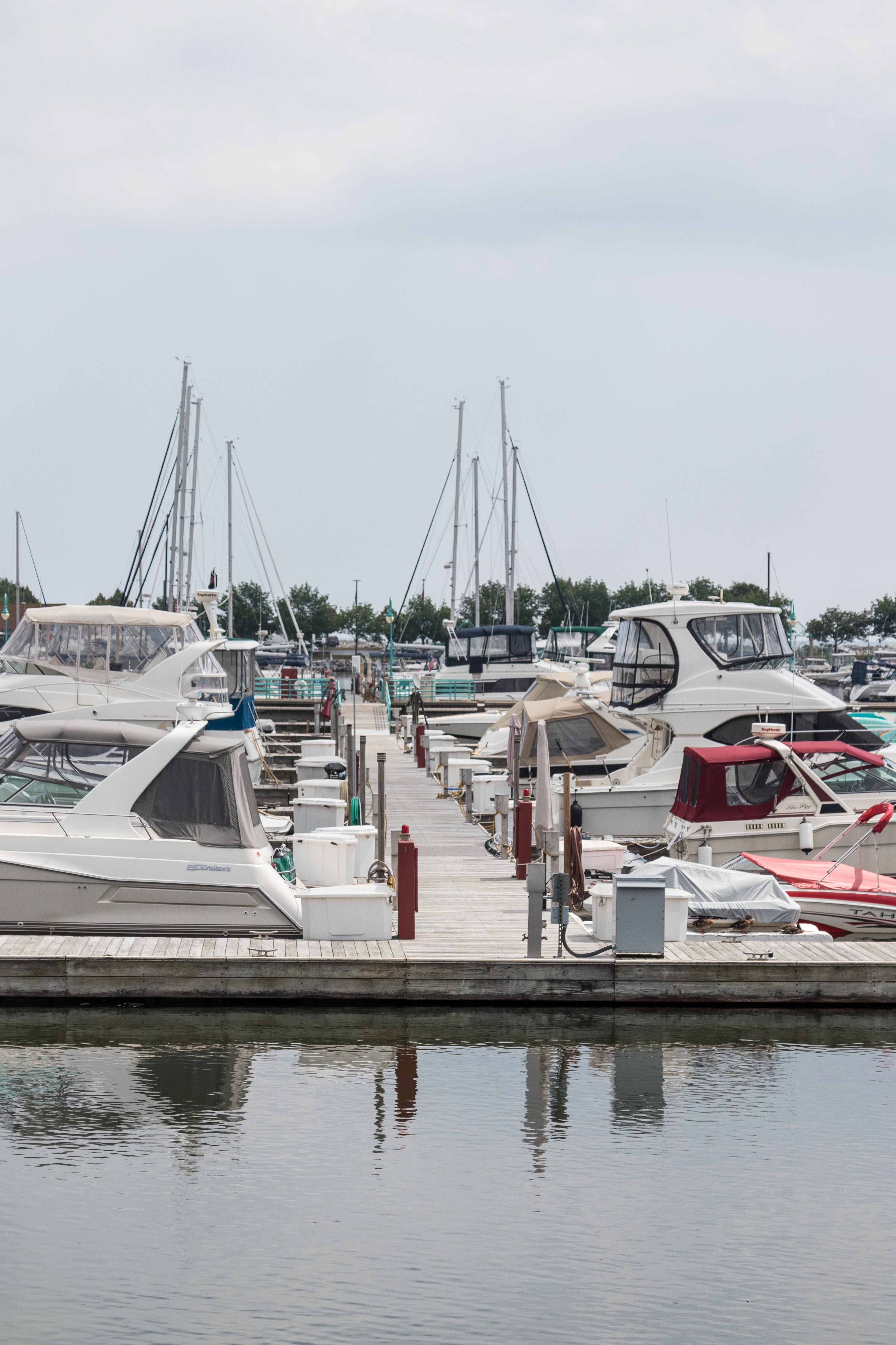 Downtown Racine, Wisconsin Harbor #harbor #boats #Wisconsin | https://www.roseclearfield.com