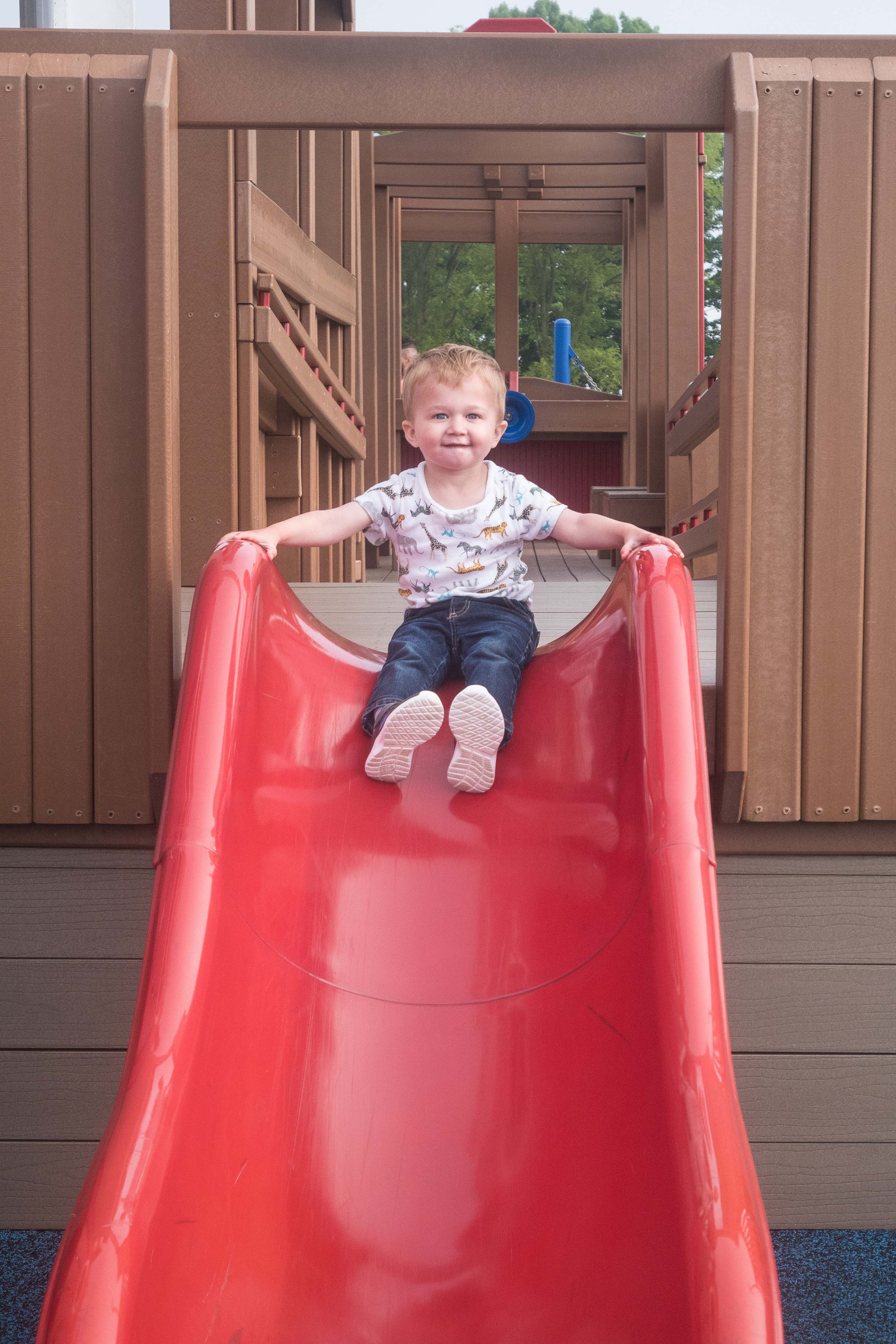 Tommy on the Slide June 2019 | https://www.roseclearfield.com