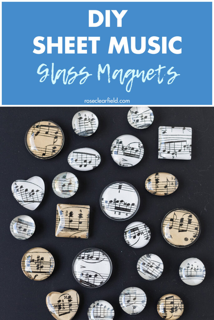 DIY Sheet Music Glass Magnets