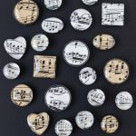 DIY sheet music glass magnets. Easy home decor project to sell or give as gifts or party favors! #sheetmusic #glassmagnets #DIY
