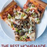 The best homemade supreme pizza. An easy weeknight recipe, packed with nutrition and flavor, that the whole family will love! #homemadepizza #homemadesupremepizza #supremepizza #weeknightdinneridea | https://www.roseclearfield.com
