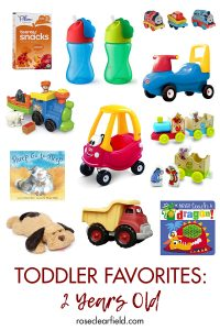 Toddler Favorites: 2 Years Old. Recommendations for toys, books, straw cups, and more! #toddlerfavorites #toddlergear #2yearsold #toddlerrecommendations