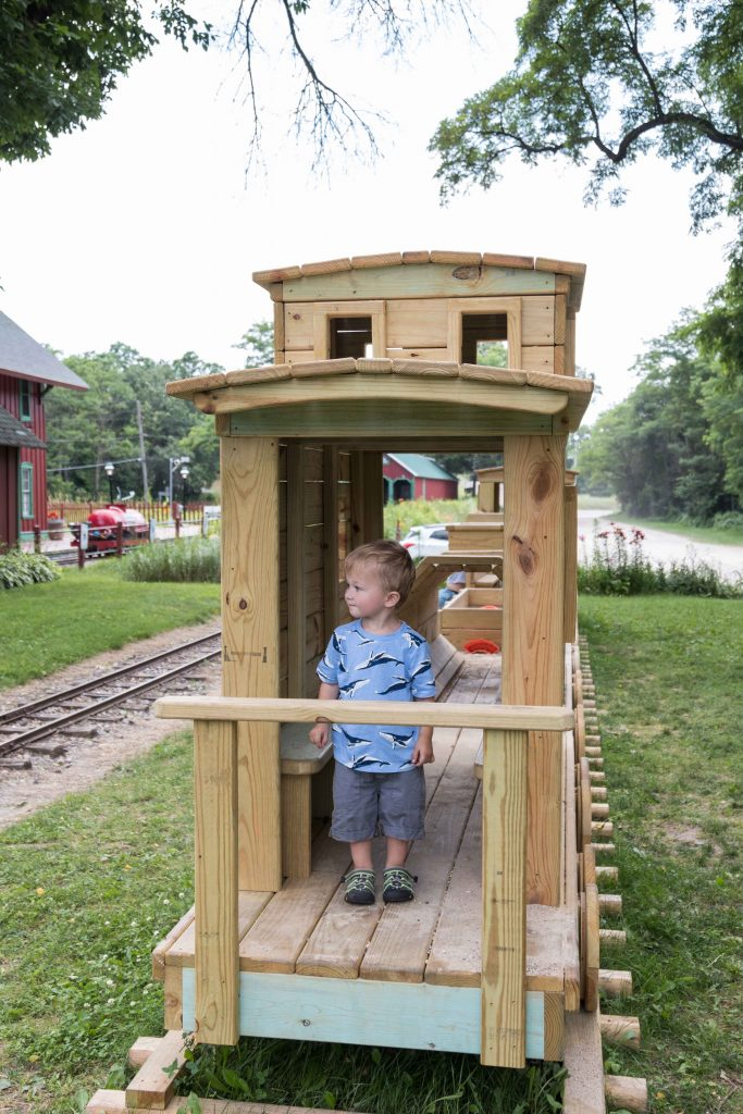Wooden Train at Riverside & Great Northern Railroad   https://www.roseclearfield.com