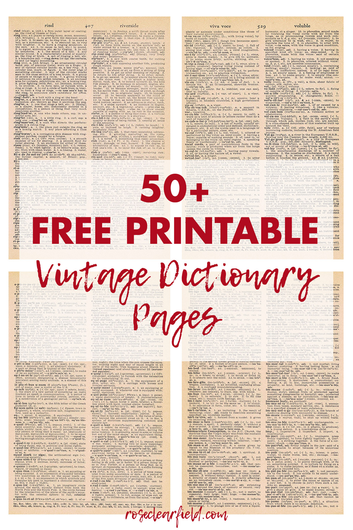 diy wall decor with pictures.htm 50 free vintage dictionary page printables     rose clearfield  vintage dictionary page printables