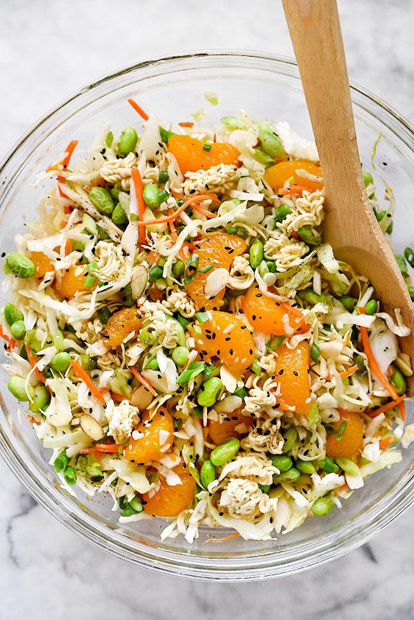 Asian Ramen Salad Recipe Foodiecrush
