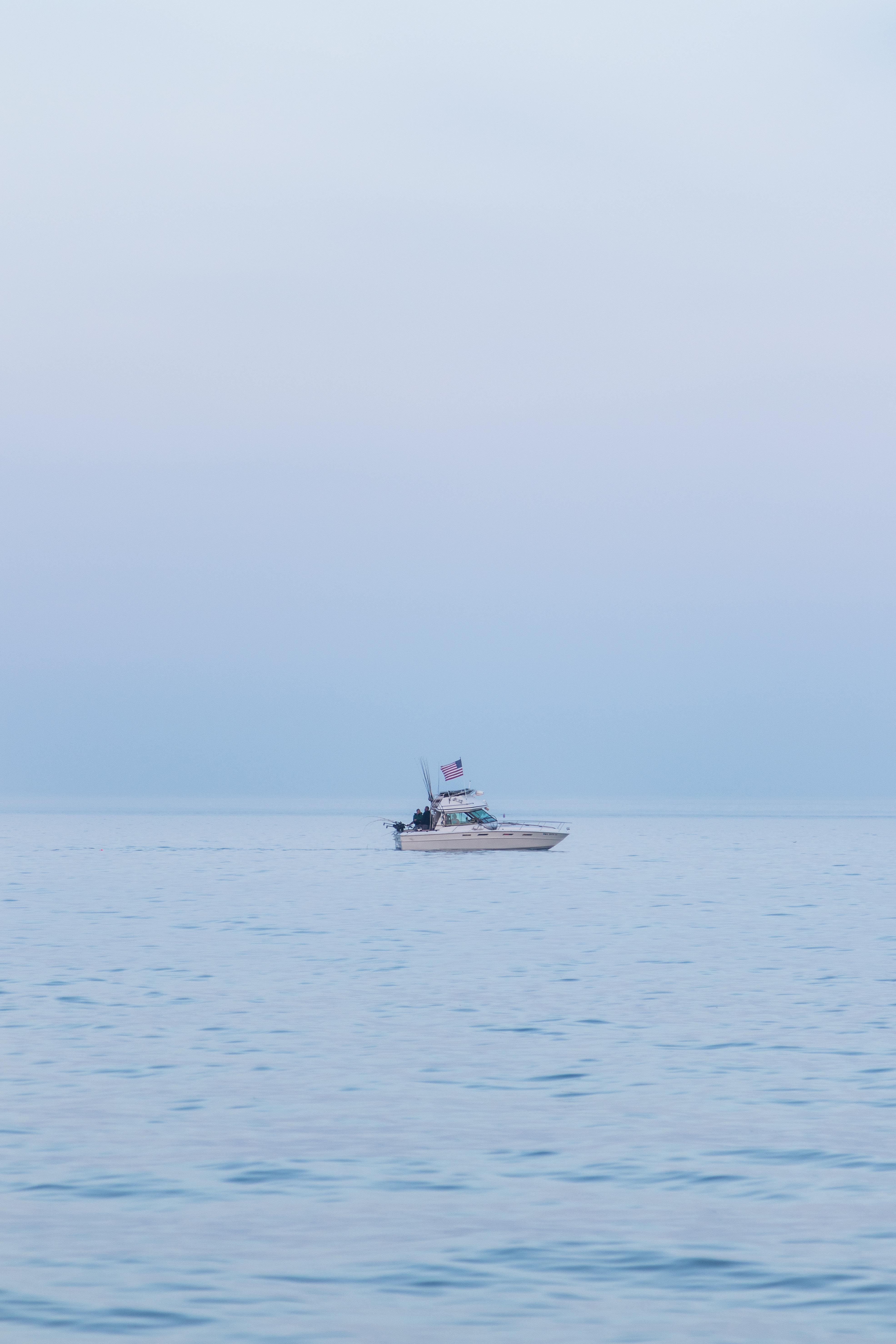 Boat at Golden Hour on Lake Michigan