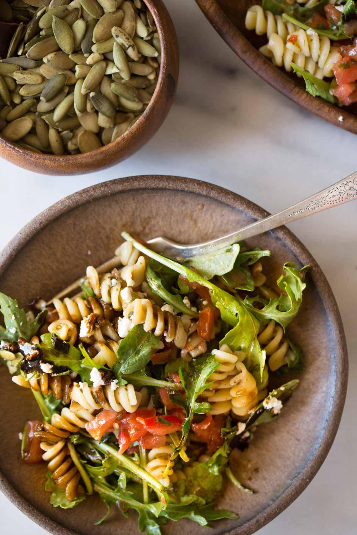 Bruschetta Pasta Salad Lovely Little Kitchen