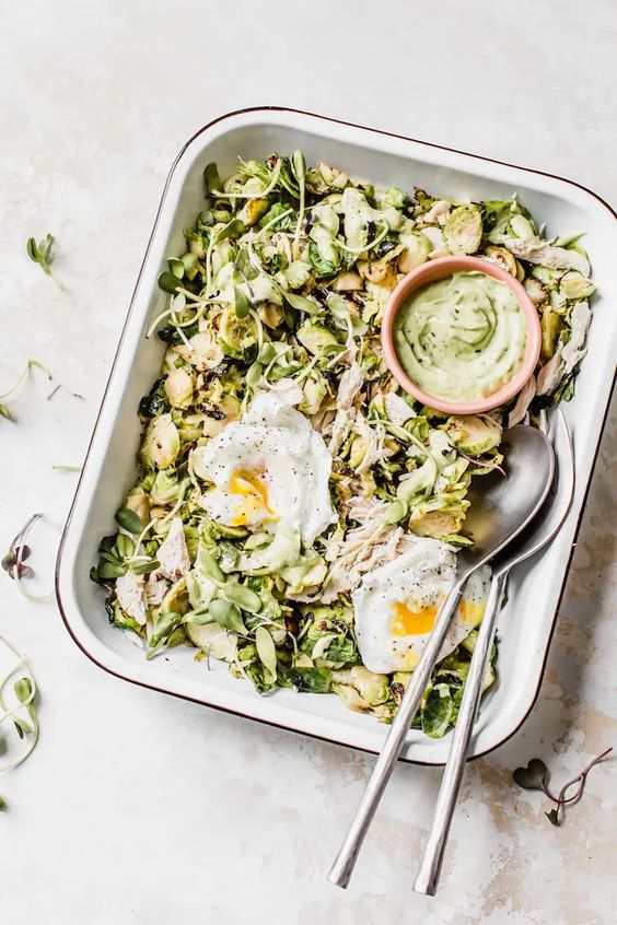 Chicken Brussels Sprouts Salad The Almond Eater