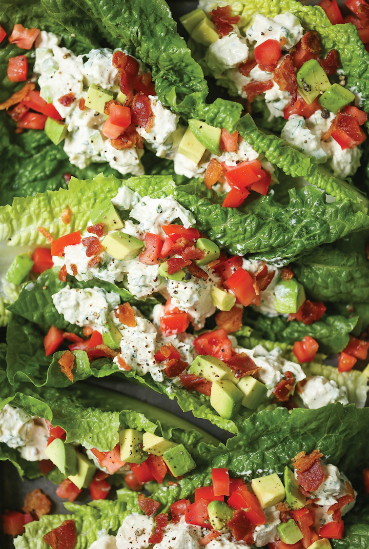 Chicken Salad Lettuce Wraps Damn Delicious Crop