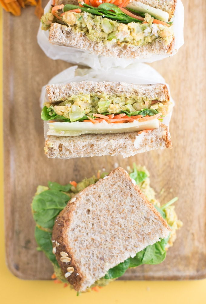 Chickpea Salad Sandwich Mindful Avocado