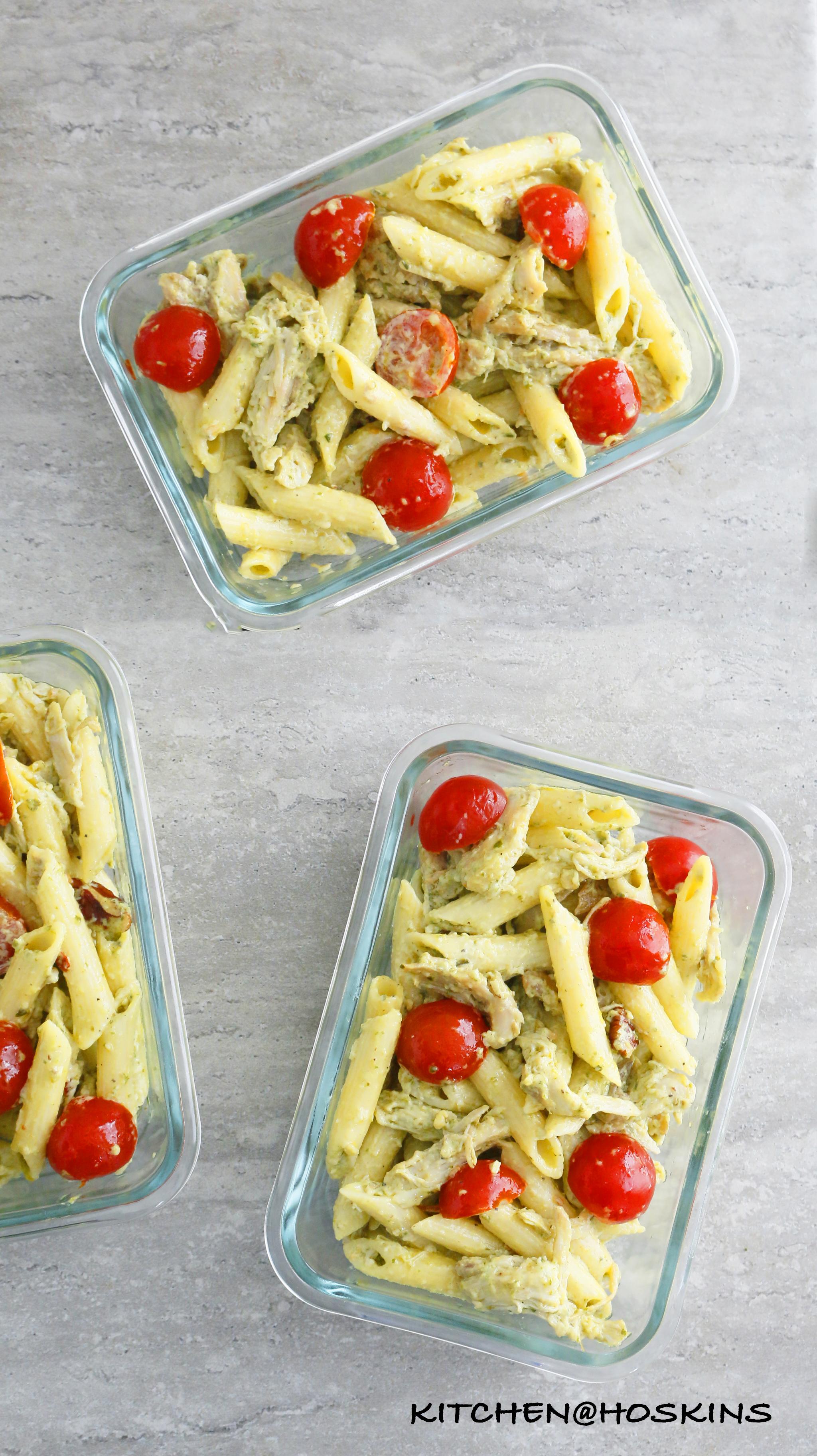 Creamy Chicken Pesto Pasta Salad Kitchen at Hoskins