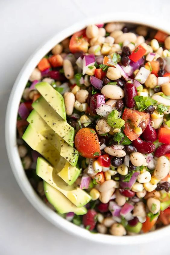 Easy Mexican Bean Salad The Forked Spoon