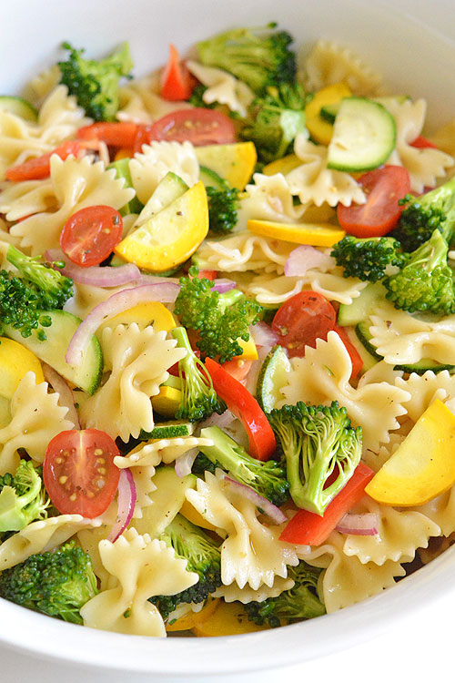 Garden Vegetable Pasta Salad One Little Project