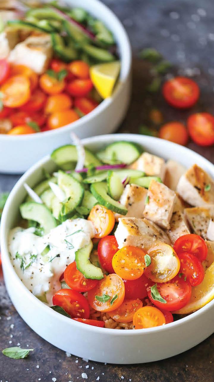 Greek Chicken Meal Prep Bowls Damn Delicious Crop