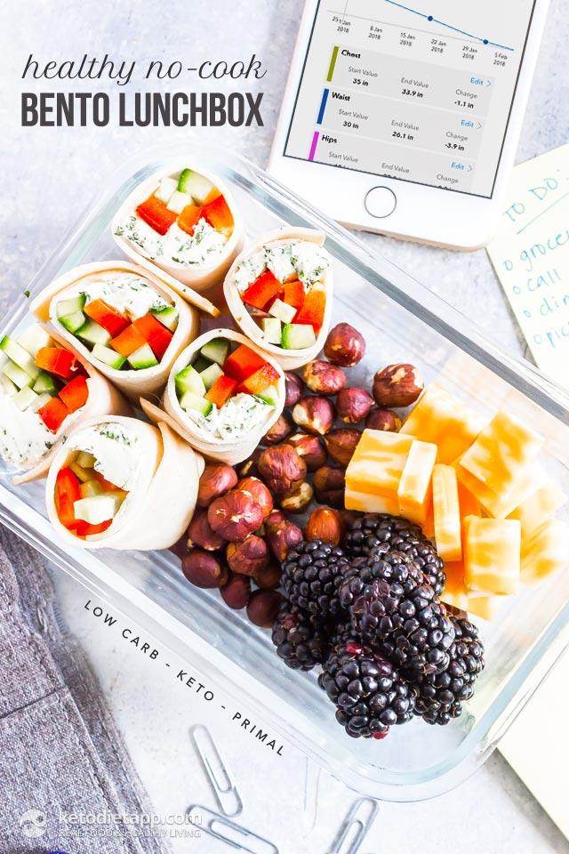 Healthy Keto No Cook Bento Lunchbox Keto Diet