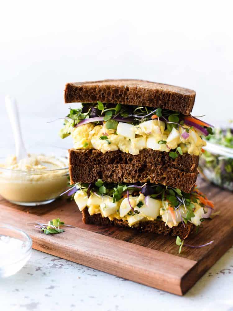 Hummus and Tahini Egg Salad Kitchen Confidante