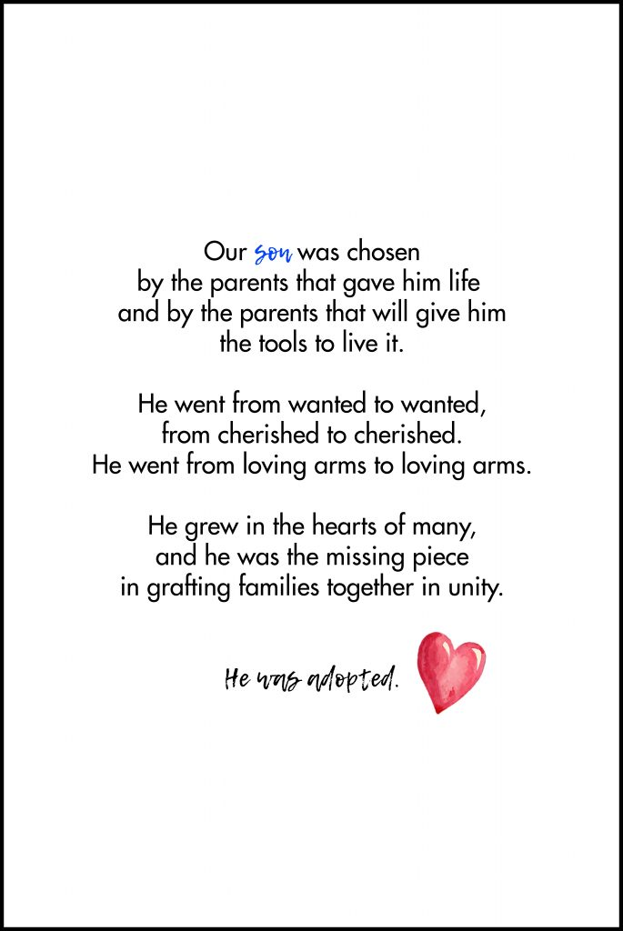 Our Son Was Chosen Adoption Quote