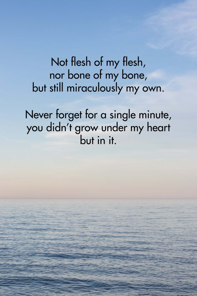 Not Flesh of My Flesh Fleur Conkling Heyliger Adoption Quote