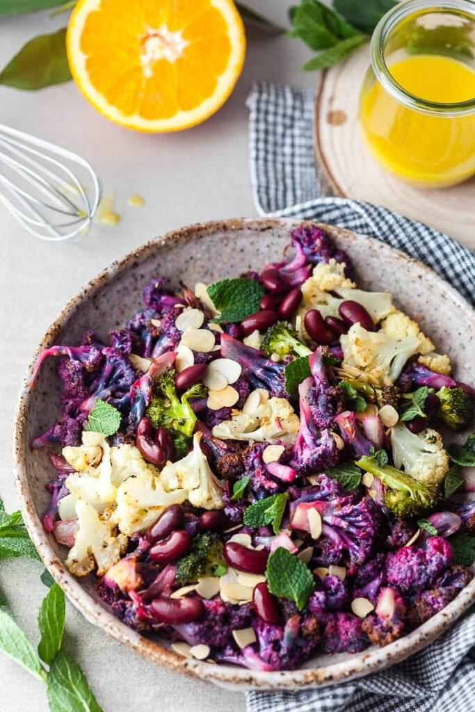 Winter Purple Cauliflower Salad Vibrant Plate