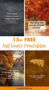 15+ Free Fall Quote Printables