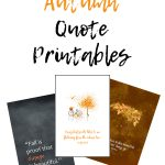 20 Free Autumn Quote Printables