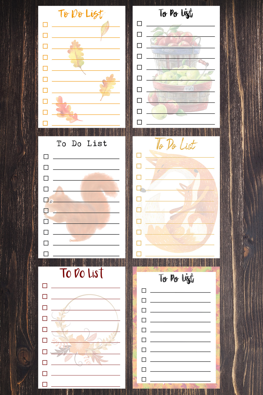 5x7 Free Printable Fall To Do Lists