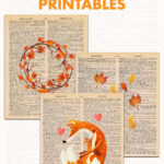 Free Fall Dictionary Page Printables