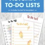 Free Printable Autumn To-Do Lists
