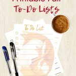 Free Printable Fall To Do Lists
