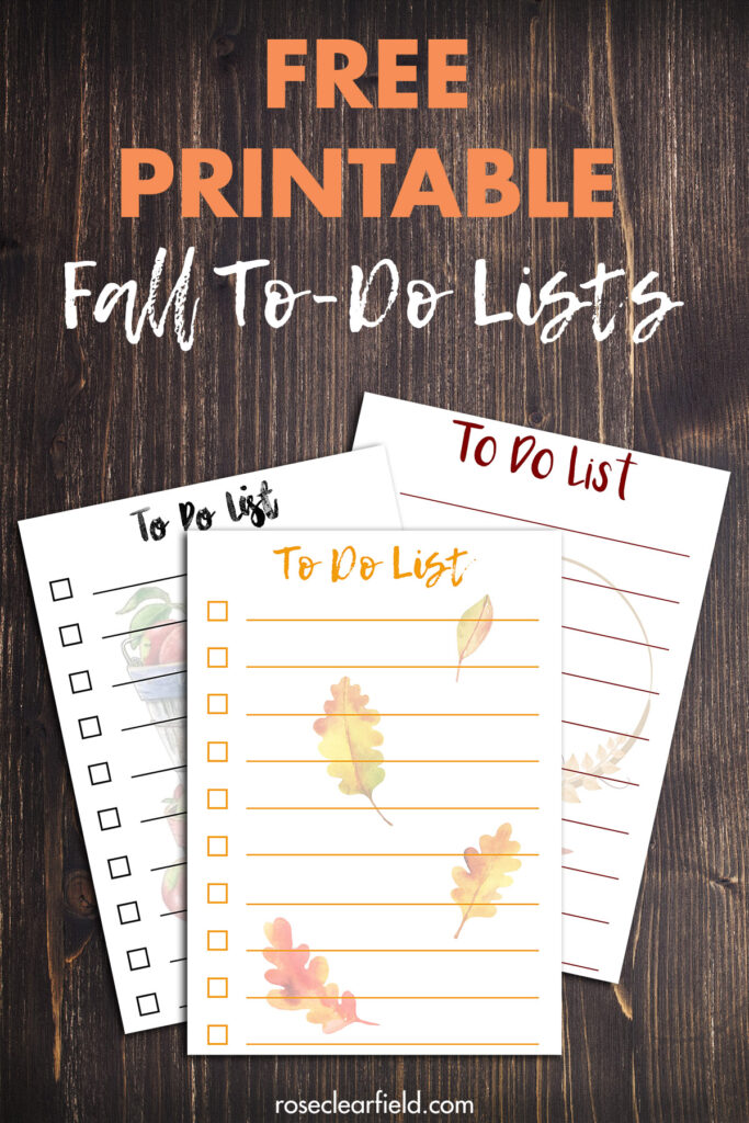 Free Printable Fall To-Do Lists