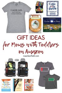 Gift ideas for moms with toddlers on Amazon. Perfect for Christmas, Mother's Day, birthdays, and more! #giftideas #momgiftideas #Amazongiftideas #toddlermoms | https://www.roseclearfield.com
