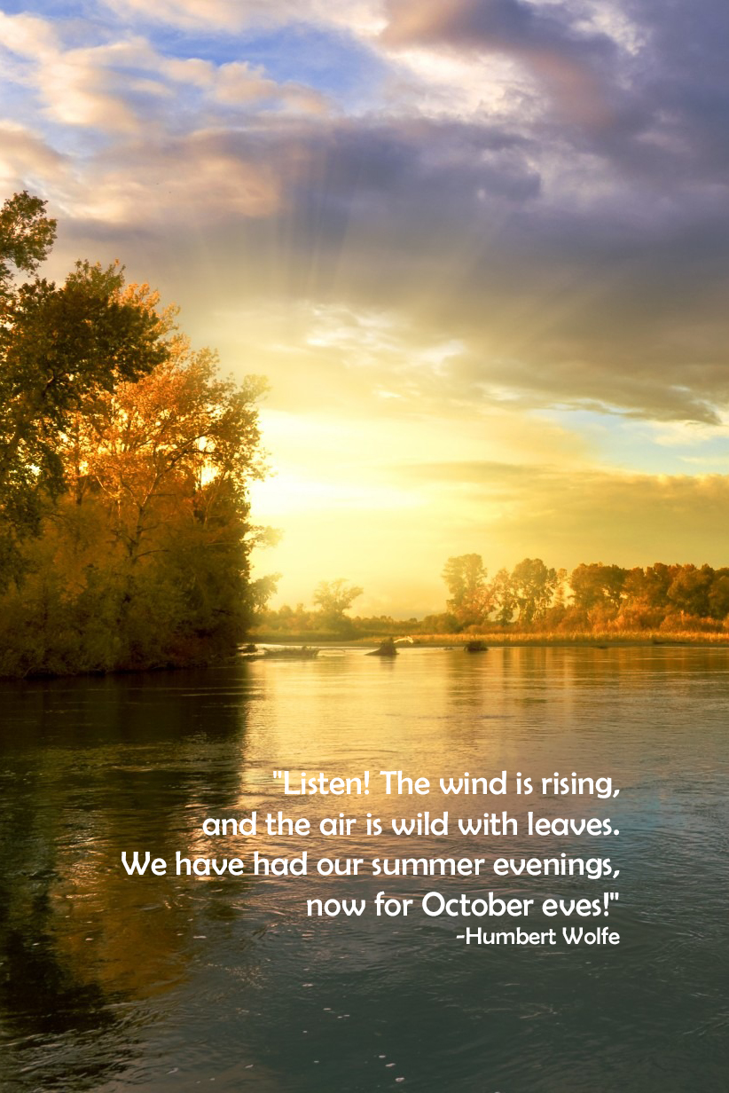 October Eves Humbert Wolfe Quote