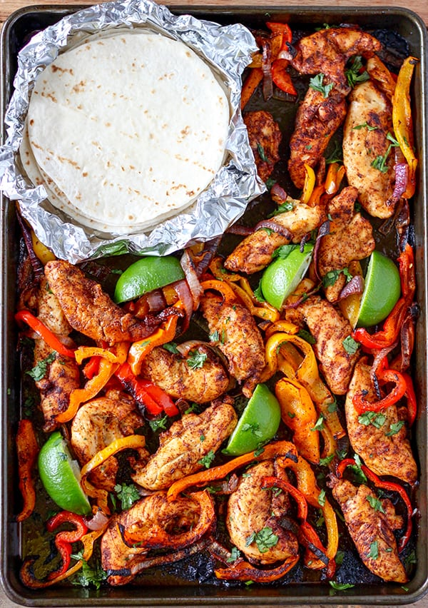 Sheet Pan Chicken Fajitas Number 2 Pencil