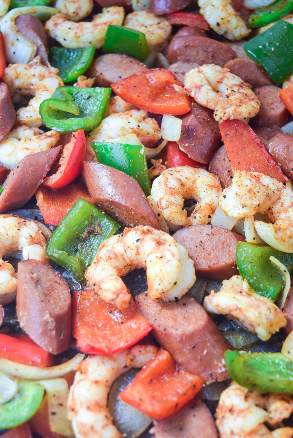 Sheet Pan Sausage and Shrimp Jambalaya Tasty Thin