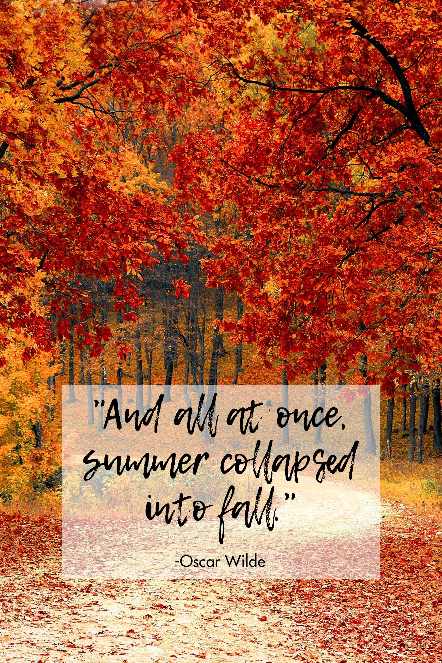 Summer Collapsed Into Fall Oscar Wilde Quote