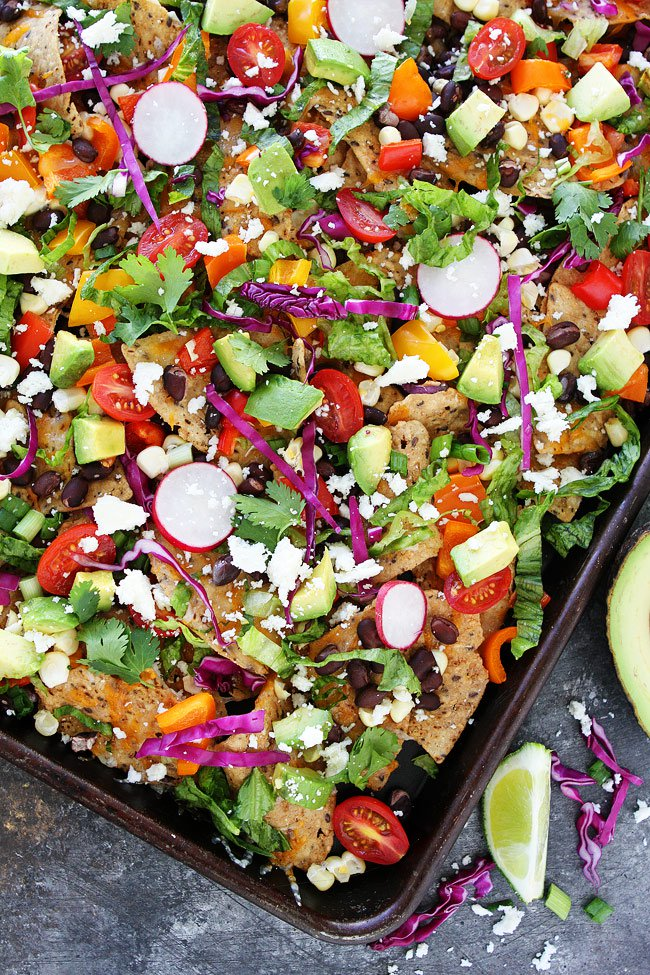 Veggie Sheet Pan Nachos Two Peas and Their Pod