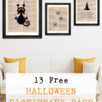 13 Free Halloween Dictionary Page Printables