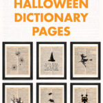 13 Free Printable Halloween Dictionary Pages
