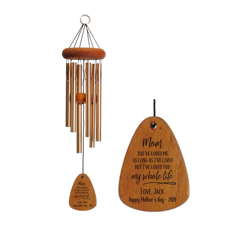 30-Inch Bronze Personalized Mom Wind Chime FireWoodCreations on Etsy