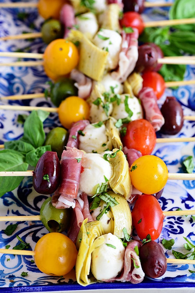 Antipasto Skewers Tidy Mom