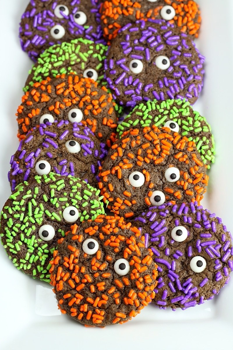 Chocolate Sprinkle Monster Cookies The Toasty Kitchen