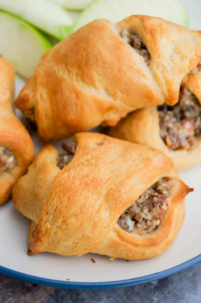 Cream Cheese Sausage Crescent Roll-Ups The Diary of a Real Housewife