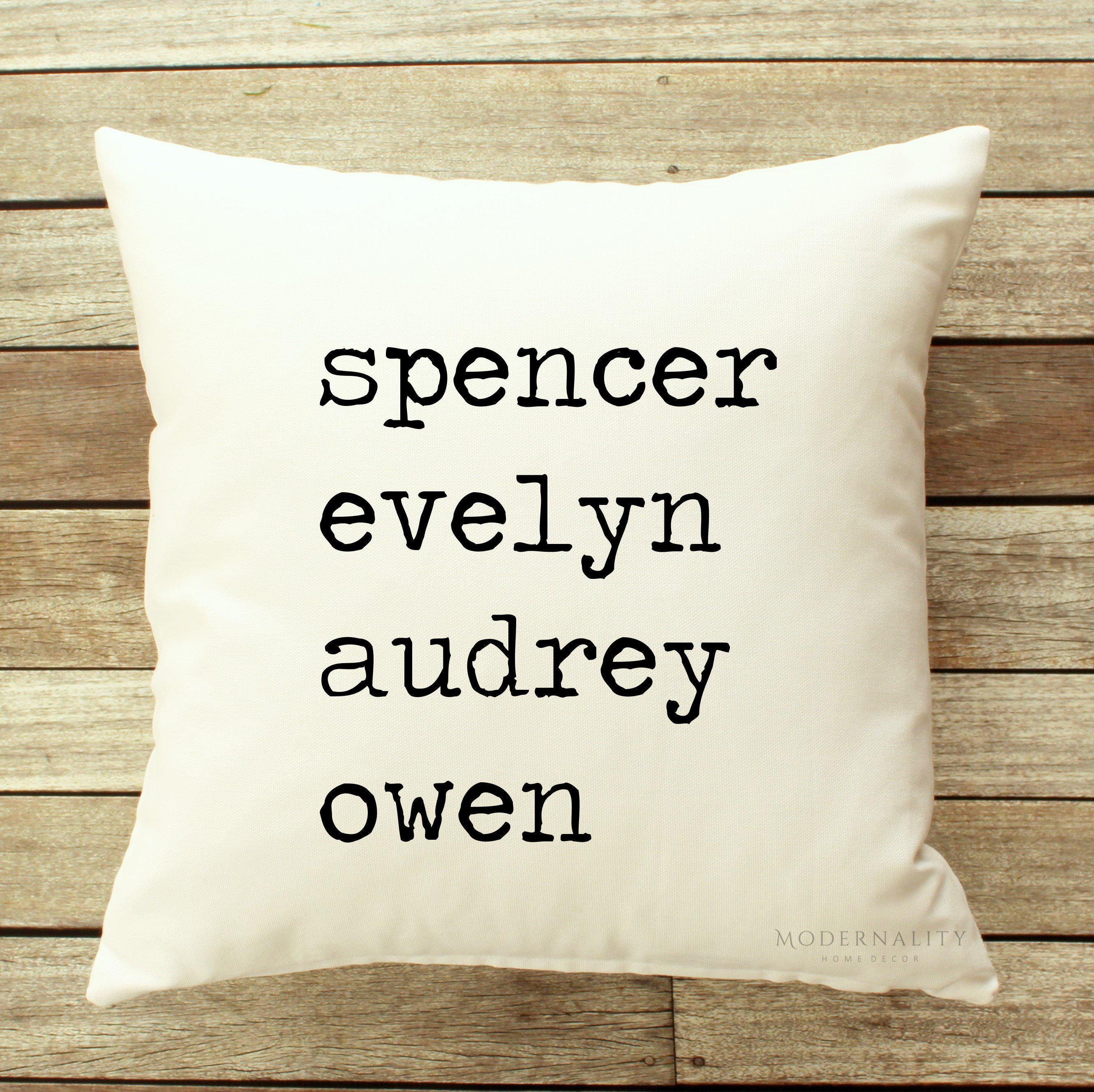 Custom Family Name Pillow ModernalityHomeDecor