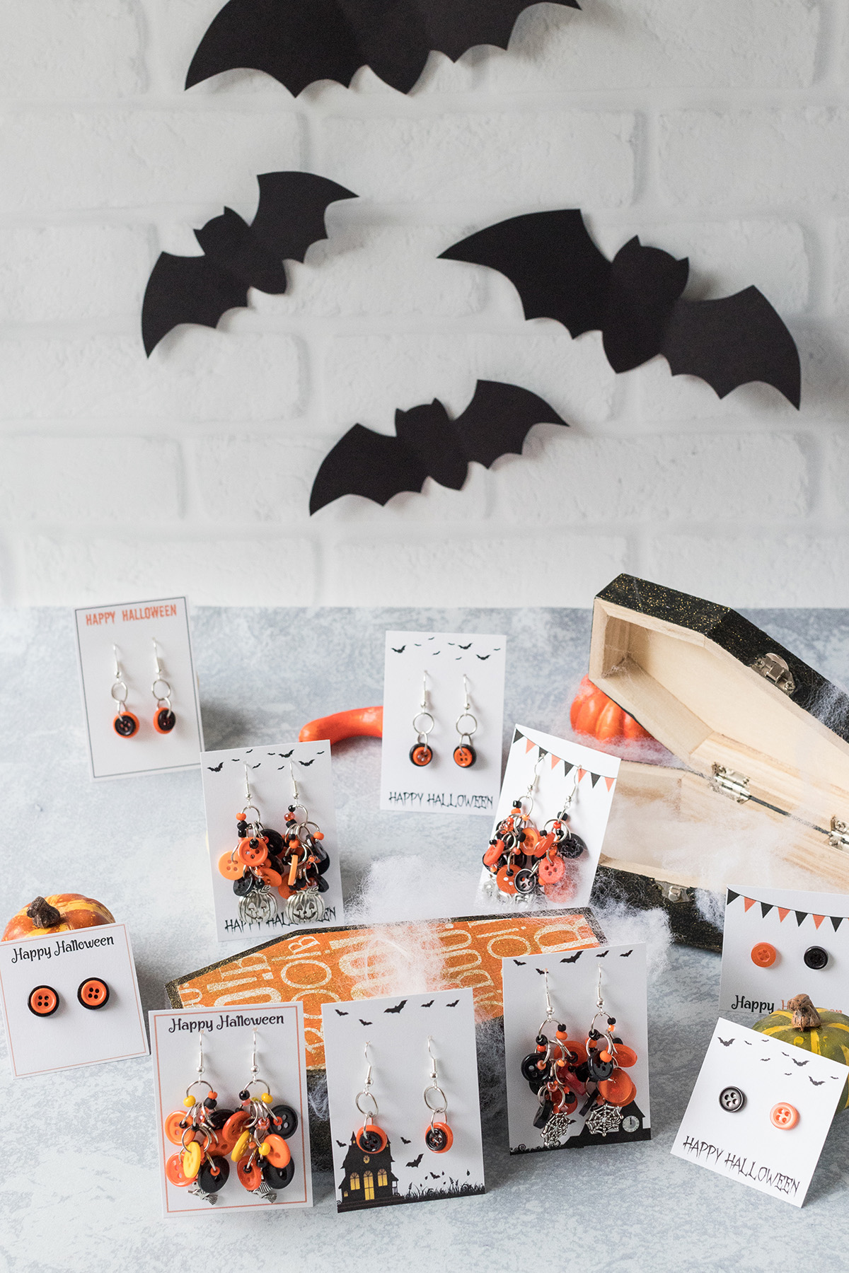 DIY Halloween Earrings