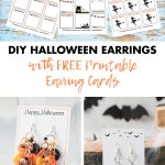 DIY Halloween Earrings with Free Printable Earring Cards