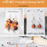 DIY Halloween Earrings with Free Printable Earring Cards